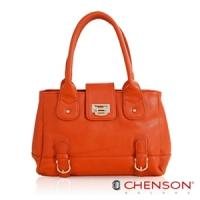 CHENSON 珍藏祕密.宮廷羅曼史肩背包包/高貴血統橘(CG65814-O)