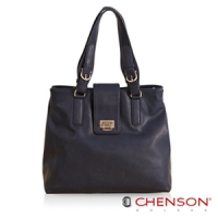 CHENSON 法國上流.神祕光澤感肩背包/吸引藍(CG65816-6)