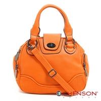 斜背包 素色簡約 糖果色系三用斜背包包 女 CHENSON 橘(CG65980-O)
