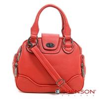斜背包 素色簡約 糖果色系三用斜背包包 女 CHENSON 紅(CG65980-R)
