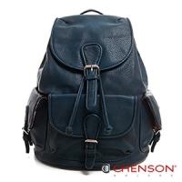 後背包 素色多口袋 學院束口後背包包 女 CHENSON 藍(CG66645-9)