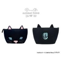 日本sunlemon☆動物FACE化妝包-黑貓