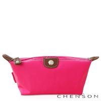 CHENSON 時尚旅行[牛角機場系列]化妝收納包/粉紅魅力(CG20753-P)
