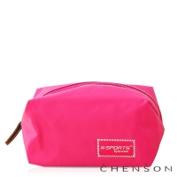 CHENSON 時尚旅行[圓角機場系列]化妝收納包/粉紅魅力(CG20754-P)