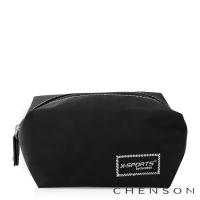 CHENSON 時尚旅行[圓角機場系列]化妝收納包/絲絨霧黑(CG20754-3)