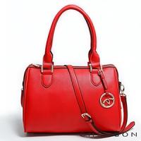 斜背包 素面百搭 A4 經典波士頓三用包包 女 CHENSON 紅(GRS141708-R)