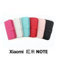 【GAMAX 嘉瑪仕】小香款菱格側掀套 Xiaomi 紅米 NOTE