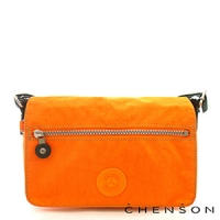 《限時5折》CHENSON 英式貴族‧經典小巧隨身包/螢光橘(CG70105-O)