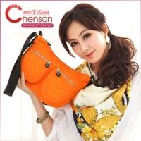 《限時5折》CHENSON吉普賽女郎外口袋斜肩包/螢光橘(CG70107-O)