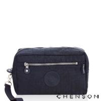 化妝包 經典款 防潑水超輕手拿收納包包 男女 CHENSON 藍 (CG70136-6)