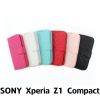 【GAMAX 嘉瑪仕】小香款菱格側掀套 Sony Xperia Z1 Compact