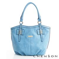 CHENSON 愛出色簡約托特包 藍(CG69579-6)