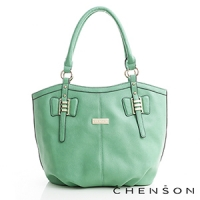 CHENSON 愛出色簡約托特包 綠(CG69579-G)