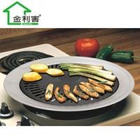 MIT 外銷級 不沾導油設計超導熱不鏽鋼 燒烤盤