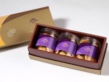 漢坊【御點】原味夏威夷豆手工餅乾3入禮盒(蛋奶素)