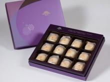 【臻饌】綠豆小月餅12入禮盒(蛋奶素)