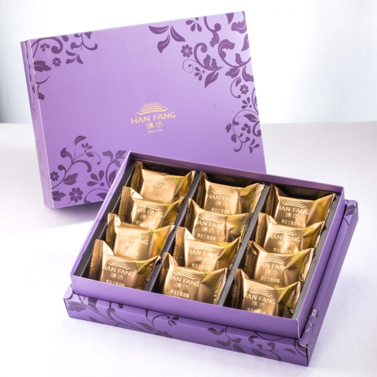 【臻饌】鳳凰酥12入禮盒(蛋奶素)紫