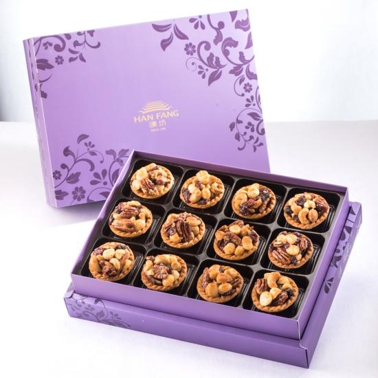 【臻饌】什錦堅果塔12入禮盒(蛋奶素)紫