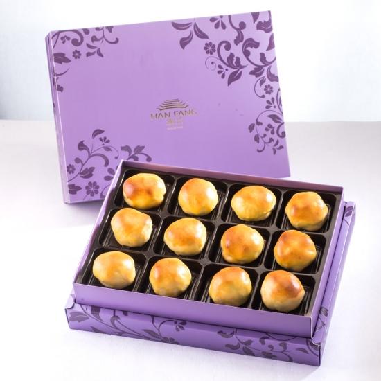 【臻饌】焦糖栗子12入禮盒(蛋奶素)紫