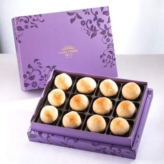 【臻饌】金沙弄月12入禮盒(蛋奶素)紫