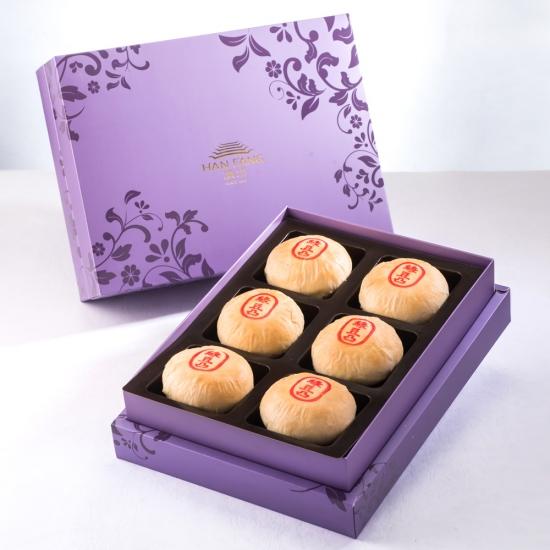 【臻饌】綠豆椪6入禮盒(紫)