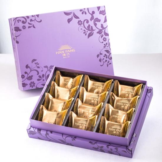 【臻饌】鳳梨酥12入禮盒(蛋奶素)紫