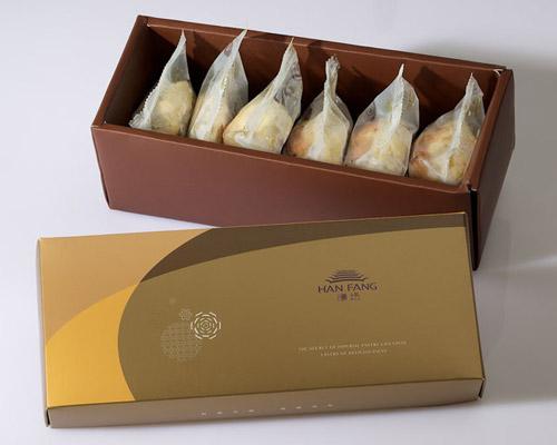 【御點】綜合6入禮盒★漢坊金沙小月*3+蛋黃酥*3(蛋奶素)