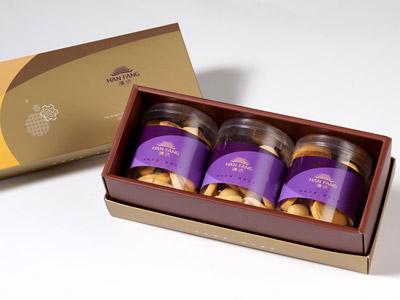 漢坊【御點】原味杏仁手工餅乾3入禮盒(蛋奶素)