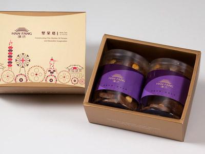 漢坊【典藏】榛果巧克力手工餅乾2入禮盒(蛋奶素)