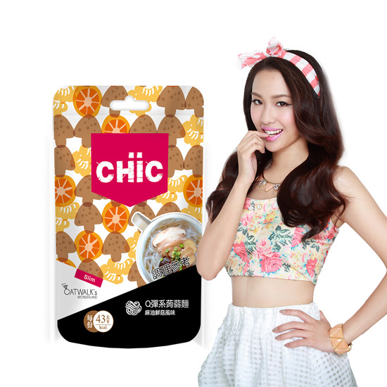 CHiCQ彈系蒟蒻麵-麻油鮮菇風味