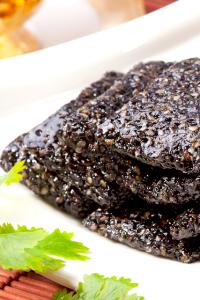 黑芝麻粒(糊)軟糖