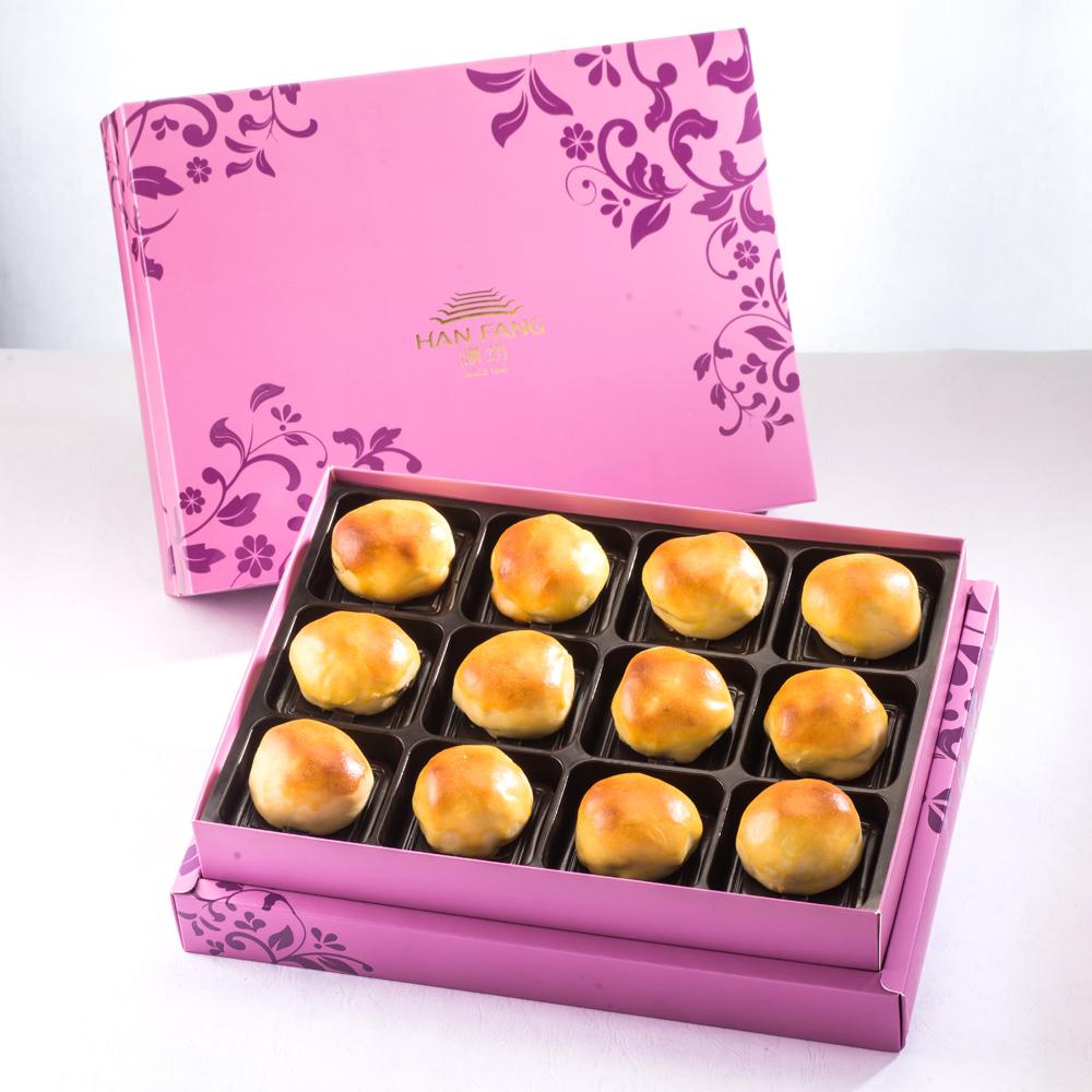 【臻饌】綜合12入禮盒★鳳梨核桃*6+焦糖栗子*6(蛋奶素)紅